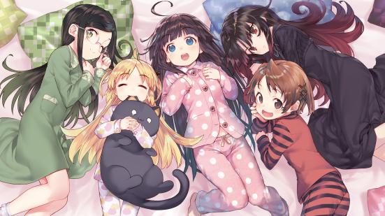 charlotte izoard, hinatsuru ai, mizukoshi mio, sadatou ayano, and yashajin ai (ryuuou no oshigoto!) drawn by shirabi - 7ecf664d8c88e1b0b2421652e83a777c